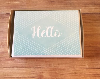Hello Watercolor - Boxed Stationery Set
