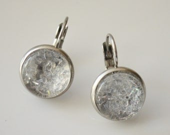 "Seasons of Maine Winter Collection made with fake ""snow""-Made in Maine Jewelry-Maine nature inspired jewelry"