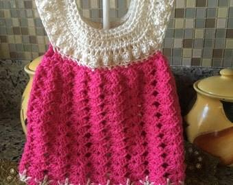 0-3 m dress, pink dress, beige dress, baby dress, infant dress hot pink dress, fushia baby dress, photo prop dress, going home outfit,