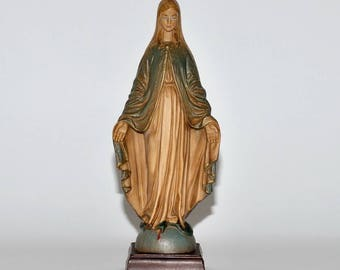 Vintage Italy Virgin Mary Madonna Statue