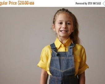 25% OFF SALE NOS, 1970s Country Denim Overalls >>> Size 3t, 4t, 5t or 6