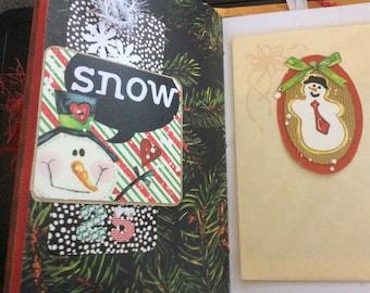 Christmas Journal mini handmade
