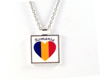 Romania Heart Pendant with Chain Necklace - Free Shipping