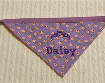 Princess Tiara Dog Bandana S to XL  Tie Style Dog Bandana
