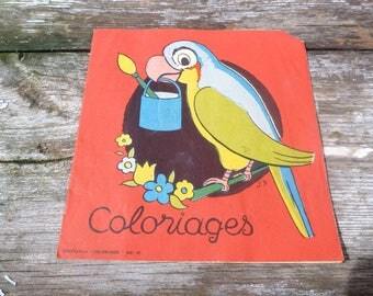 Vitage 1950/50s French Album a colorer   coloring book