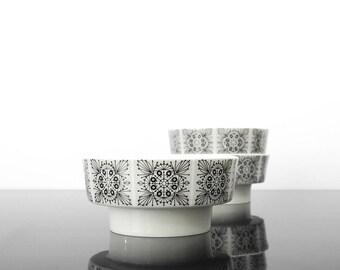 3 Porcelain Candle holder / Hutchenreuther  / Germany / Vintage / Mid century