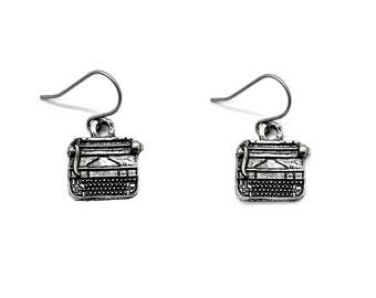Typewriter Earrings Writer Jewelry Dangle Bookish Author Literary Theme