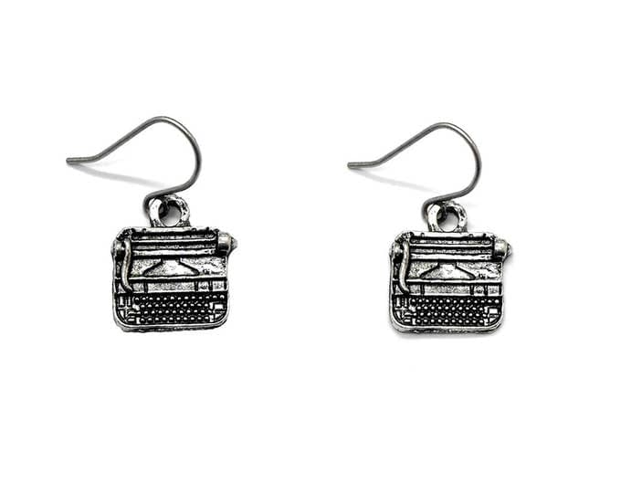 Typewriter Earrings Writer Gift Jewelry Dangle Bookish Author Literary Theme