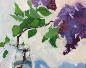 Lilac Study, an original oil painting
