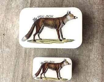 Sly fox tin LARGE,  Notions tin