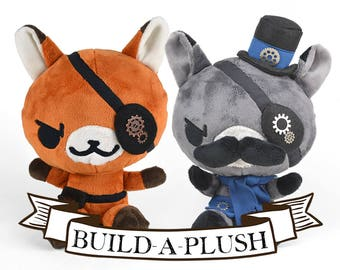 Custom Steampunk Fox Plush -- Choose Colors & Accessories