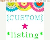 MID SEASON SALE Custom listing for Jenn