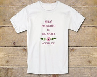 Only Child Expiring Shirt, Promoted To Big Sister Shirt, Big Sister Shirt, New Big Sister, Birth Annoucement, Baby Annoucement Shirt