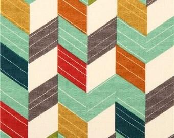 201803 colourful chevron pattern birch Canvas organic fabric USA