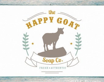 Goat Logo Design, Custom Logo,  Farm Logo, Soap Logo, Business Logo, Soap Logo, Premade Custom Logo