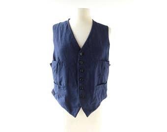 Vintage 1920s Vest   Men's Waistcoat   20s Waistcoat   Medium M