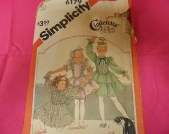 Simplicity 6179 Girl's Dress Pattern Size 5