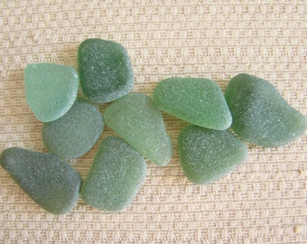 9 Pendant and Charm Size Sea Glass Gems (SG1952) Peacock and Teal Blue Green Mediterranean Sea glass, Beach Glass