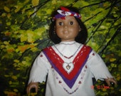 RESERVED          Valentine  indian doll costume and boots ---Original by Granmafran