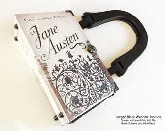 Jane Austen Book Purse - Jane Austen Recycled Book Bag - Pride and Prejudice Book Purse - Literary Book Bag - Persuasion Book Cover Handbag