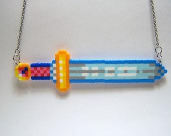 sword perler necklace