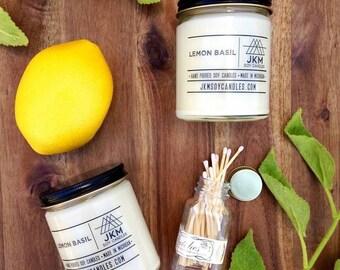 Lemon Basil soy candle