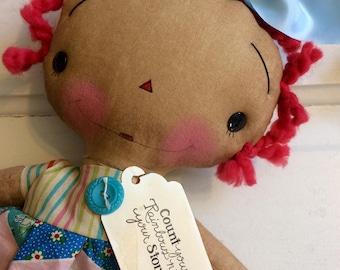 Rainbow Raggedy Ann - Raggedy Annie doll - Ragdolls - Raggedy Ann - Rainbow doll -
