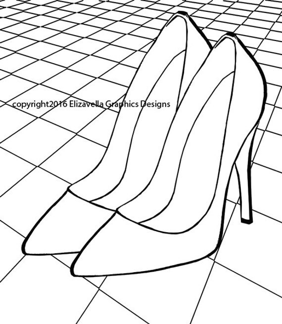 womens high heel shoes coloring pages for adults printable adult coloring page fashion coloring pages checkers coloring book page printable