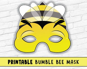 Bumble Bee Printable Mask, Photo Prop, Bug Mask, Spring Easter