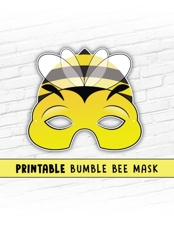 Bumble Bee Printable Mask | Photo Prop | Bug Mask | Spring Easter