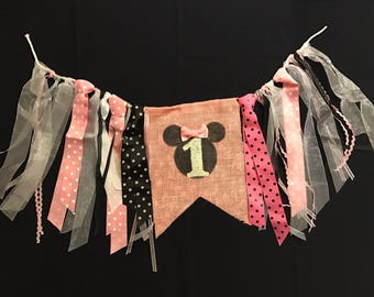 Minnie Mouse Highchair Banner