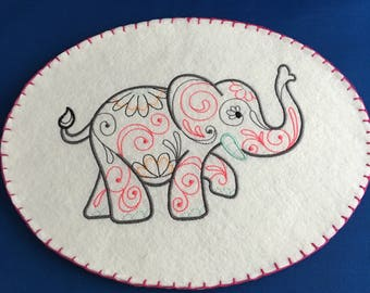 Embroidered Elephant