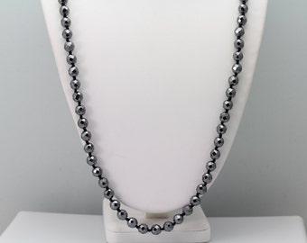 Hematite Necklace. Listing 494024406