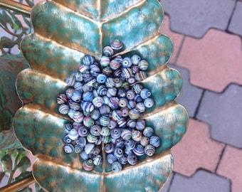 7mm round paper beads