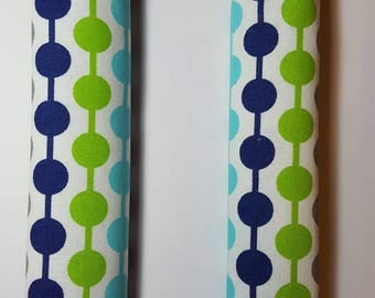 Shopping Cart Safety Harness Baby Toddler Child - Circle Chain Blue Green - See shop for 50+ fabric choices
