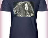 """Portrait T-Shirt : """"Out By 16 Or Dead On This Scene"""" - Ginger Snaps Katharine Isabelle Werewolf Full Moon Horror"""