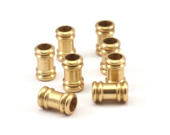 20 Pcs Raw Brass Industrial Tubes, Spacer Beads, Findings (10x6mm)  D074