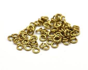 3mm Jump Rings - 250 Raw Brass Jump Ring (3x0.60mm) ( A0395 )