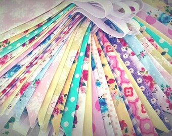 Wedding Bunting - Wedding Banner - Long length Bunting - Birthday Bunting - choose Custom colours and fabric