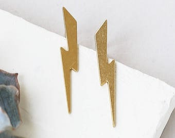 Ziggy Earrings, Minimalist Jewelry, Studs, Post Earrings, Lightning Earrings, Flash Earrings, Bolt Earrings, Delicate Earrings