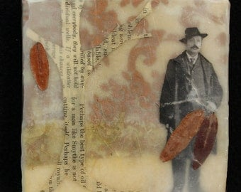 Autumn Reflection- original Encaustic Mixed Media Painting
