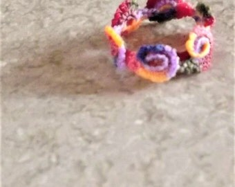Buy Bonnie's - Crochet Variegated Flower Ring *You Are Shopping @ cyicrochet*