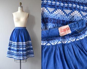Yaxhá embroidered skirt | vintage 1950s skirt | Guatemalan folk skirt