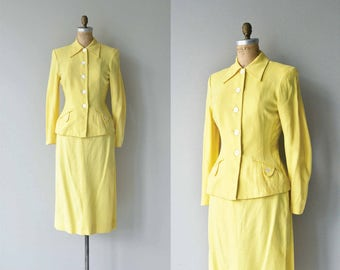 Murray Hill suit | vintage 1950s suit | 50s fitted suit