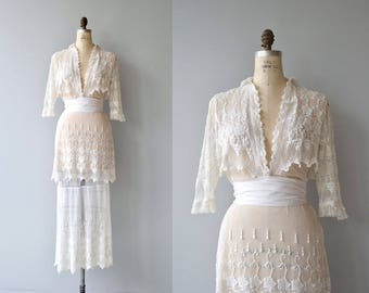 Fairhill Heights dress | antique 1910s dress | white lace Edwardian dress