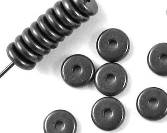 TierraCast Beads-Black Finish DISK SPACER 6mm (25)