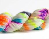 Candyland 400 yards on merino 'Quartz' Sock Yarn/ 2 ply wool hand painted yarn