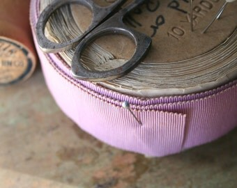 Vintage Grosgrain Ribbon Roll - Lavender, Cotton and Silk