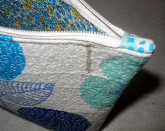 Modern Cotton Fabric Quilted Cosmetic Bag
