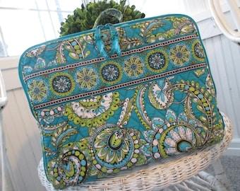 Vera Bradley Cosmetic Bag * Make Up Travel * Aqua * Paisley